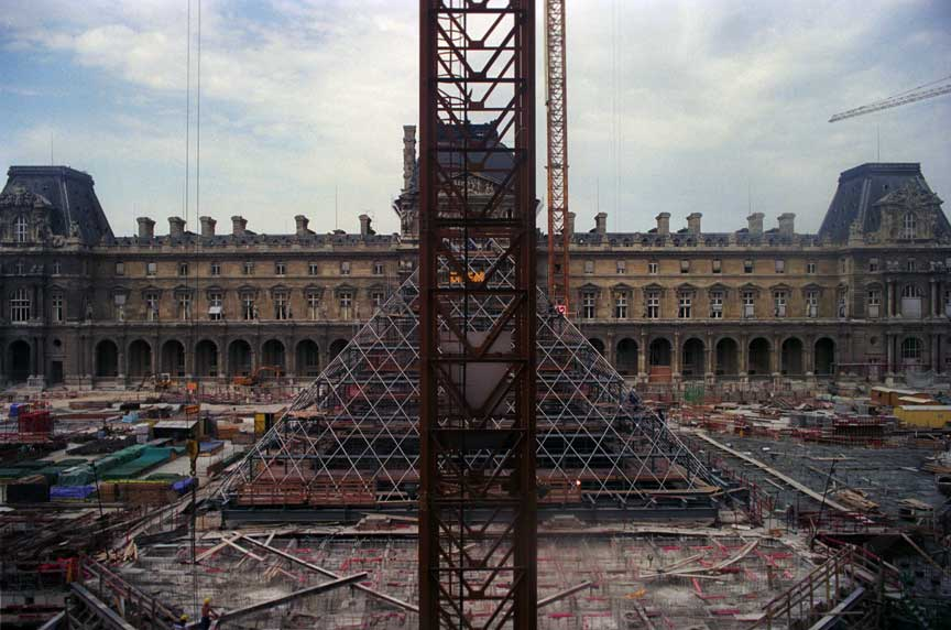 I. M. Pei Louvre Pyramid Under Construction, 20 August 1987